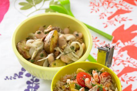 Kartoffel-Bohnen-Salat mit weißen Bohnen
