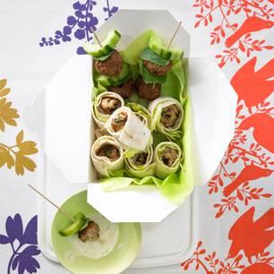 Salat-Wraps mit Puten-Involtini