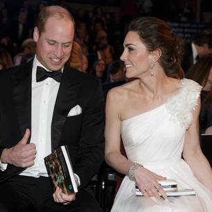 Kate Middleton: Kate und William in Abendkleidung bei einer Gala