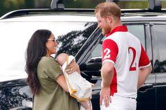 Herzogin Meghan mit Pirna Harry und Sohn Archie Harrison Mountbatten-Windsor