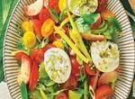 Tomaten-Bohnen-Salat mit Burrata