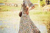 Romantische Sommer-Looks: Langes Blumnekleid
