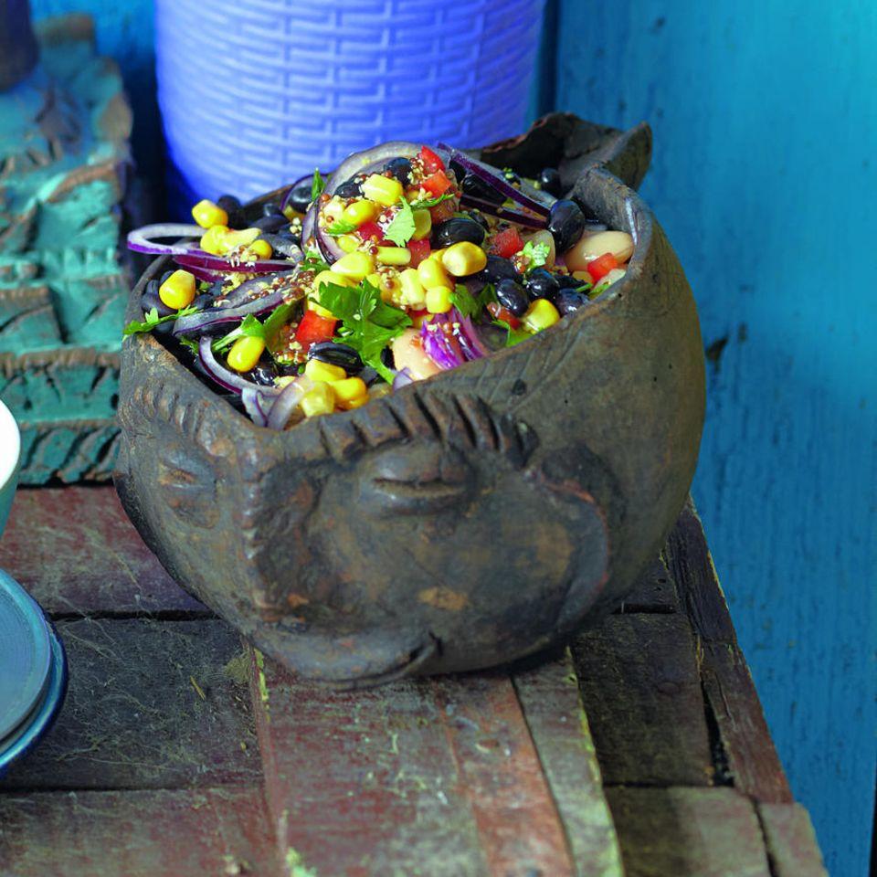 Bunter Bohnensalat