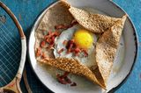 Galettes mit Speck und Ei