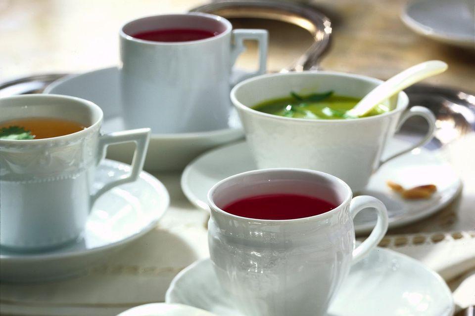 Hochzeitsmenü: Drei Suppen zur Auswahl