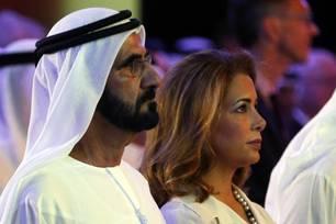 Prinzessin Haya mit Scheich Mohammed bin Raschid al Maktoum