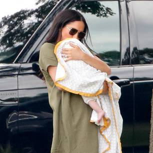 Meghan Markle: Meghan und Archie beim Polo Day