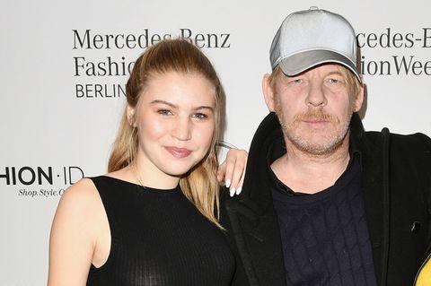 Lilith Becker mit ihrem Vater Ben Becker