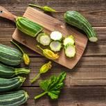 Zucchini roh essen: geschnittene Zucchini