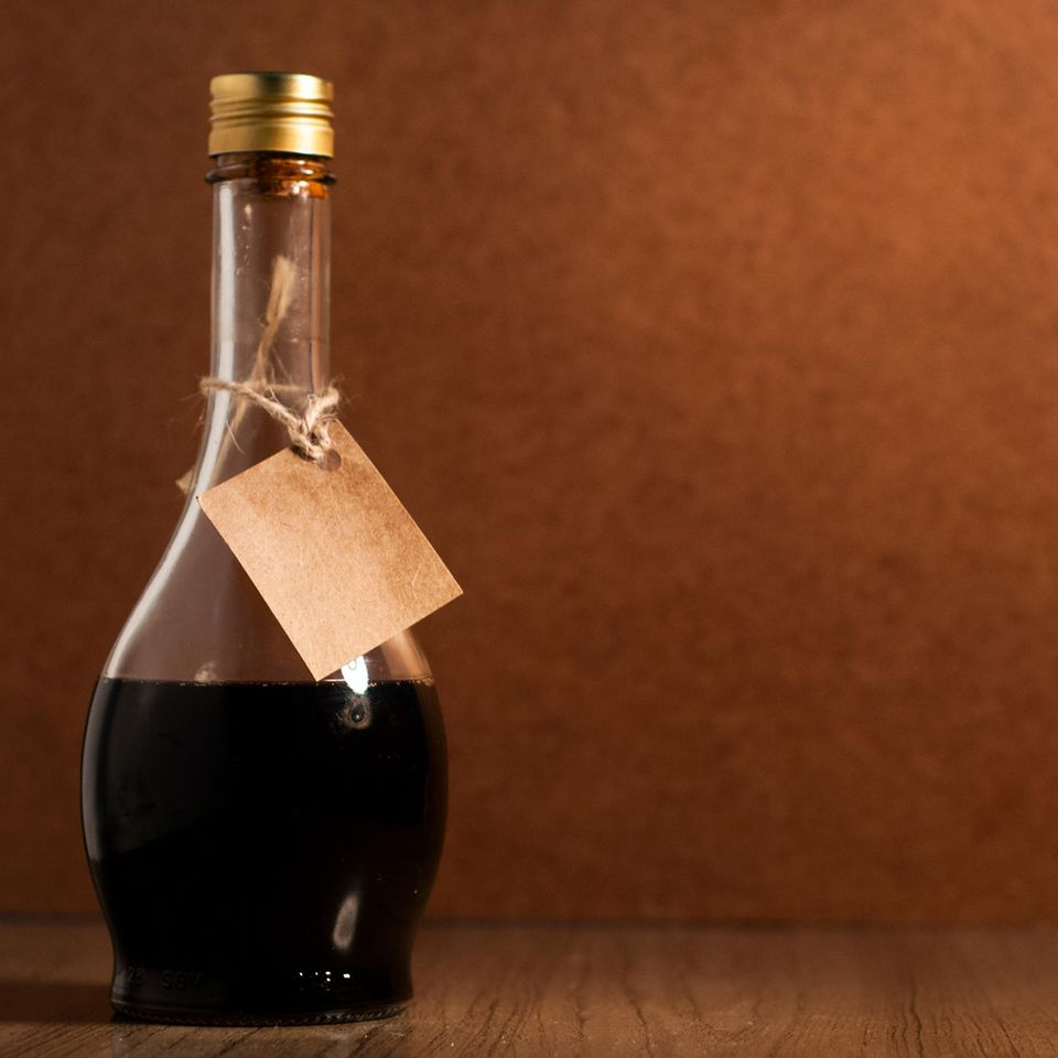 Kaffeelikör in einer Flasche