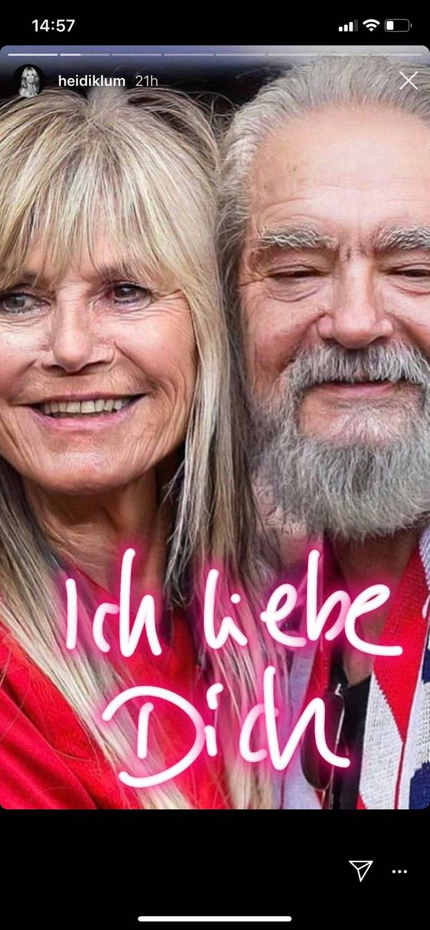 Heidi Klum und Tom Kaulitz in alt