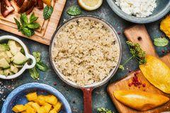 Quinoa kochen: Quinoa im Kochtopf