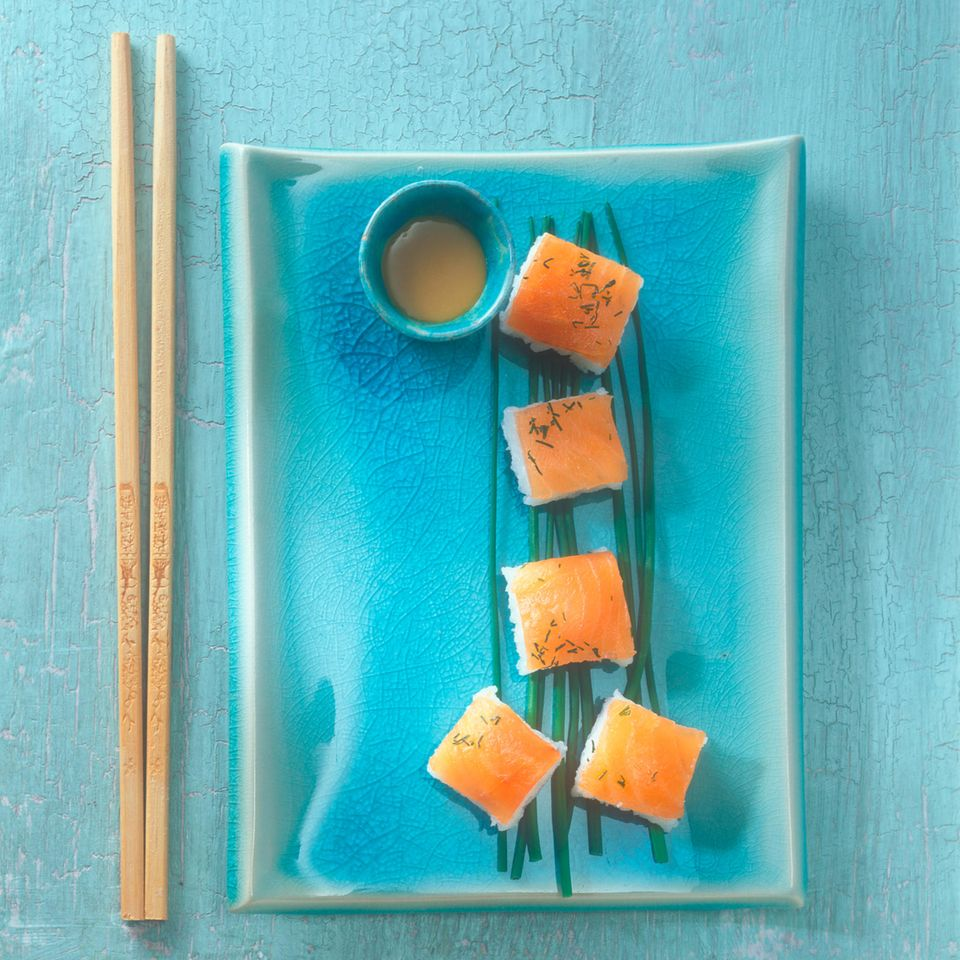 Graved-Lachs-Sushi