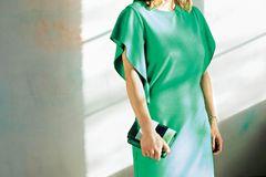Vorher-Nachher: Grünes Kleid