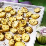 Kreuzkümmel-Kartoffeln mit Zwiebel-Raita