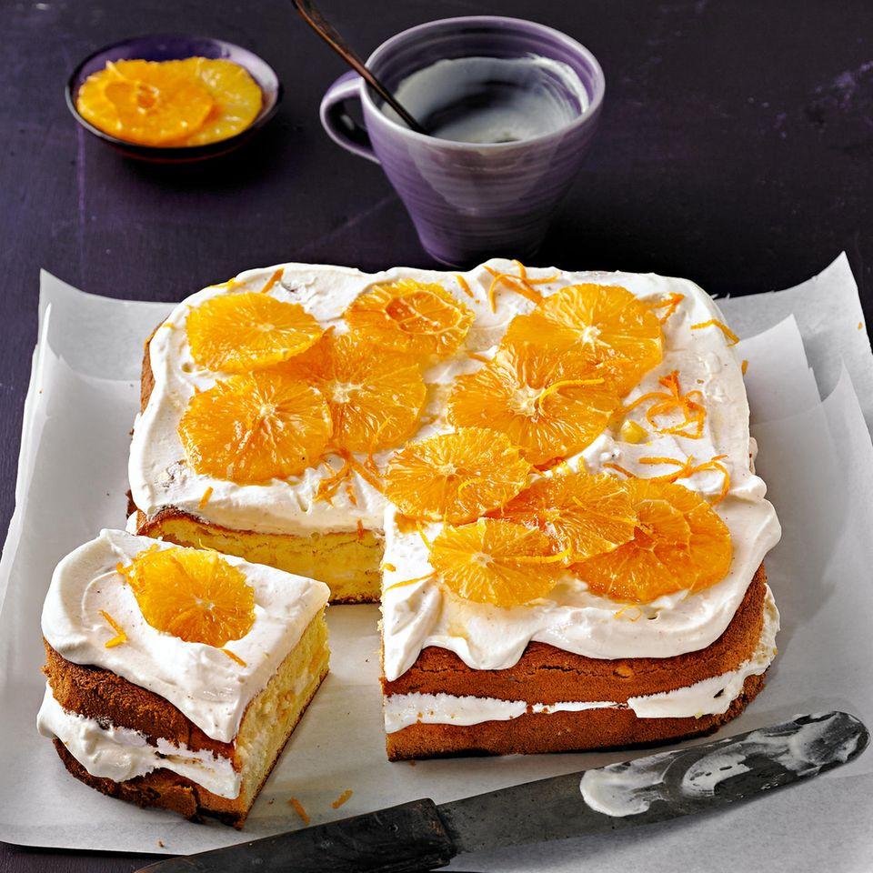 Orangenkuchen mit Tonka-Creme