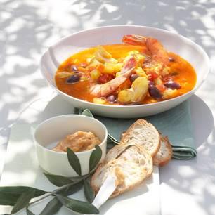 Bouillabaisse mit Oliven