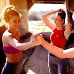 Workout: Glückliche Frauen beim Sport