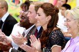 Herzogin Kate mit Half-up Hair