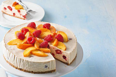 Pfirsich-Melba-Torte