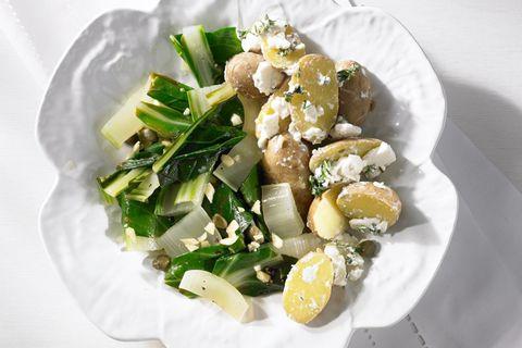 Käse-Kartoffeln mit Mangold