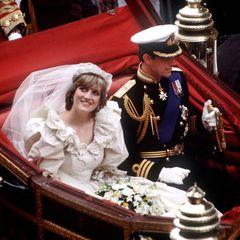 Lady Diana und Prinz Charles am Tag ihrer Hochzeit