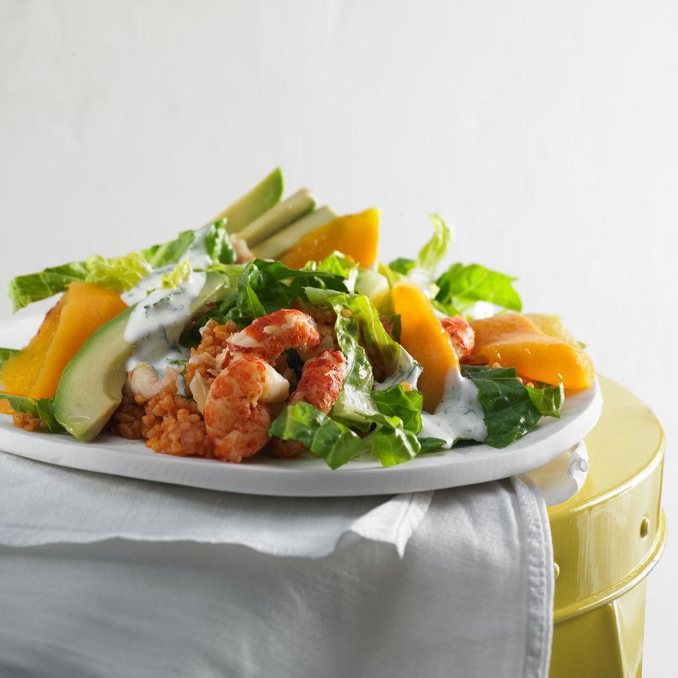 Bulgur-Salat mit Flusskrebsen