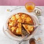Versunkener Apfel-Marzipan-Kuchen