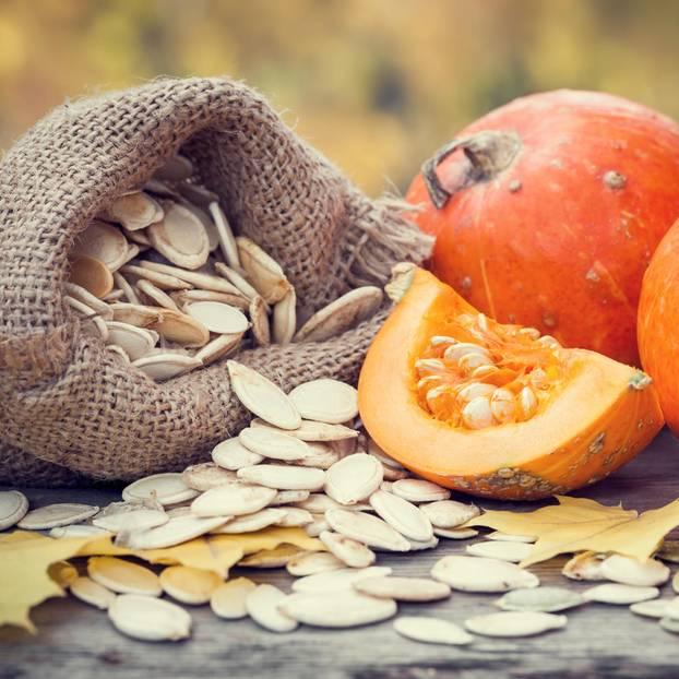Zinkhaltige Lebensmittel: Kürbisse und Kürbiskerne