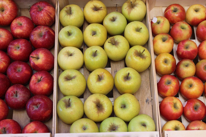 Äpfel lagern: Äpfel in Holzkisten