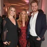 Lady Kitty Spencer mit ihrer Mutter, Victoria Aitken, und ihrem Bruder, Louis Spencer im Juni 2017.