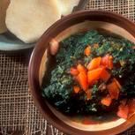Spinat und Yamswurzel
