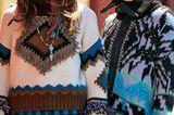 Modetrends Herbst/Winter 2019: Zwei Outfits mit Wollpullovern