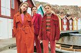 Modetrends Herbst/Winter 2019: Drei Cord-Outfits in Rottönen