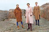 Modetrends Herbst/Winter 2019: Drei lange Mäntel aus Wolle
