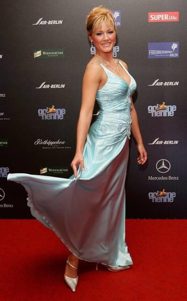 Helene Fischer: im Kleid mit Hochsteckfrisur