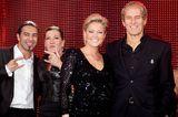 Helene Fischer mit Kurzhaarschnitt und Michael Bolton