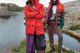 Modetrends Herbst/Winter 2019: Zwei bunte Outdoor Outfits