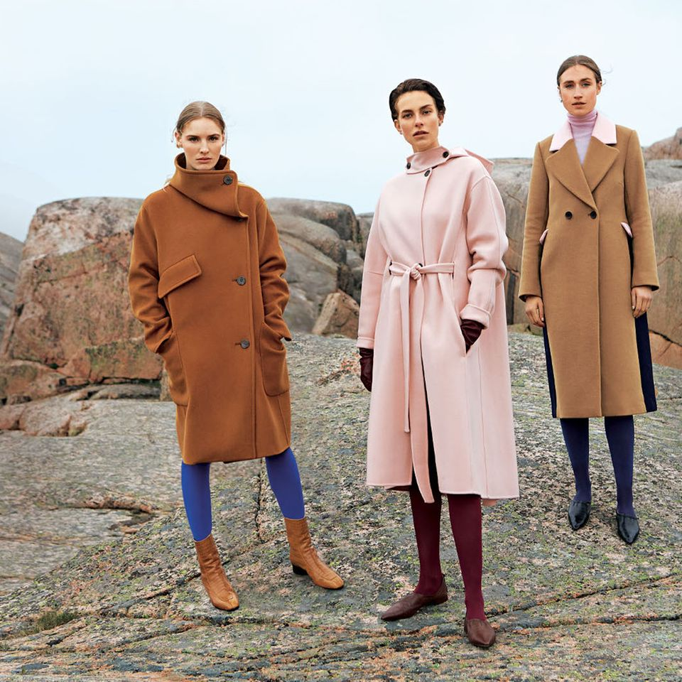Modetrends Herbst/Winter 2019: Drei lange Wollmäntel