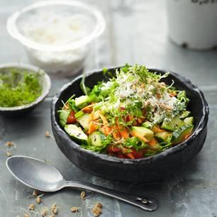 Sprossenmüsli mit Gemüse