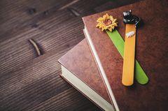 Lesezeichen basteln: Lesezeichen aus Holzstäbchen