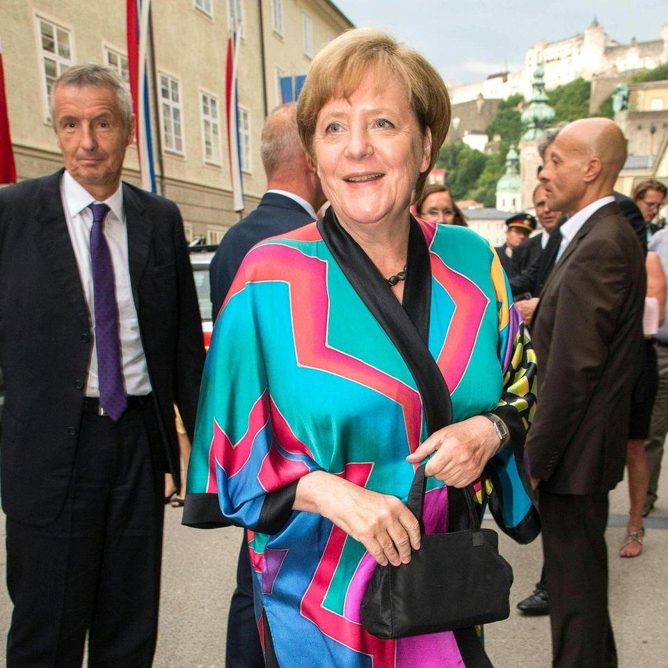 Angela Merkel im Kimono