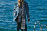 Jeans 2019: Die angesagtesten Denim-Looks: Überlange Jeansjacke, Norwegerpulli und Jeansrock