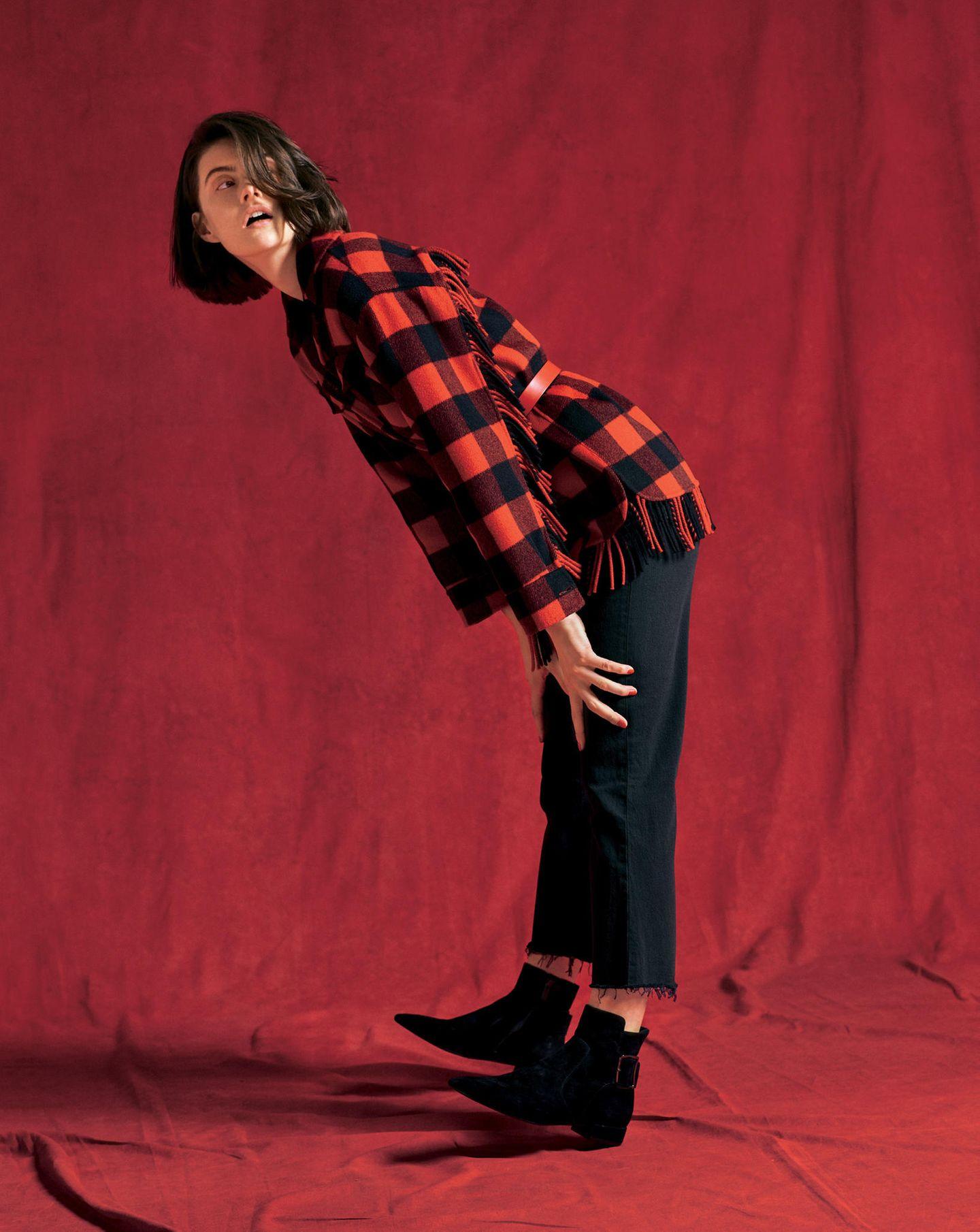 Trendfarben Herbst/Winter 2019: Diese 3 sind unschlagbar: Karo-Jacke in rot-schwarz