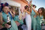 Hochzeitsfoto: Brautjungfern mit Champagner