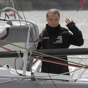 Greta Thunberg auf Segelboot