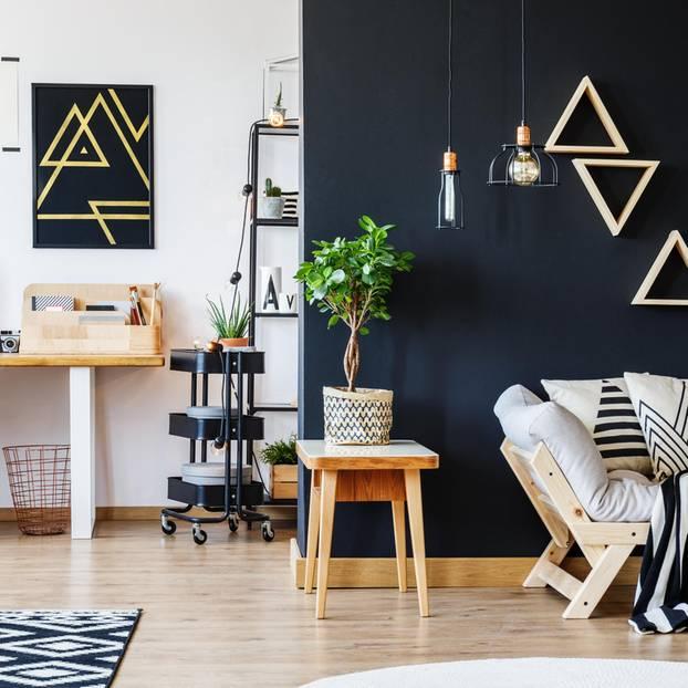 Schwarze Wände machen deine Wohnung eleganter