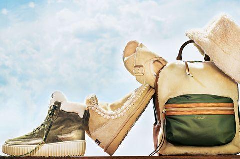 Herbst-Accessoires 2019: Fell-Boots und Felltasche