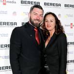 Ingo Kantorek und seine Frau auf dem roten Teppich