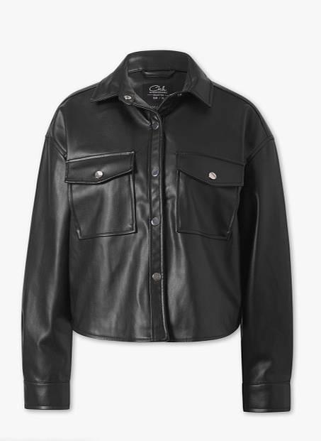 Schwarzes Lederhemd